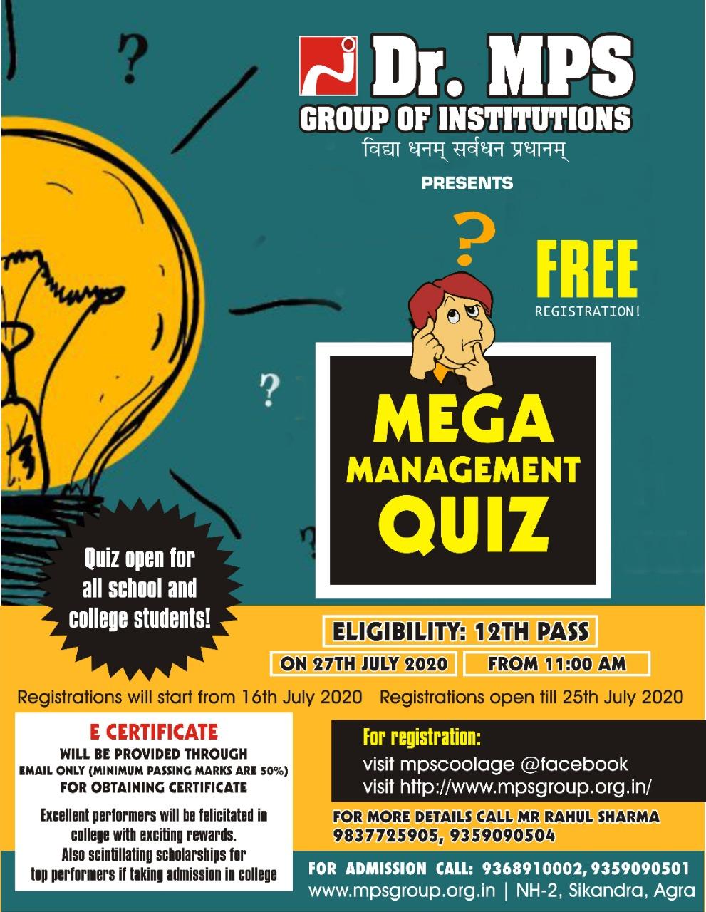 Mega Management Quiz